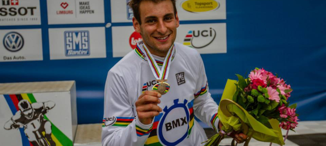 Joris Daudet wins UCI BMX World Championship Time Trial