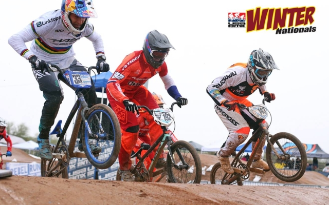 Joris, Romain, and Connor battle the elements to kick the USA BMX Season off in Winter Nationals.