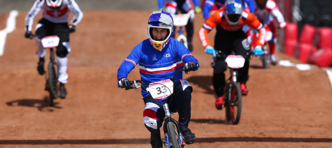Joris Daudet wins Inaugural European Games BMX SX Event