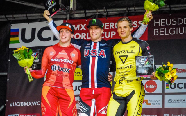 Connor Fields takes the win, Romain get on the podium in 3rd at UCI BMX SX World Cup Belgium
